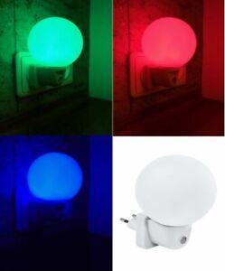 999102-109 LED Steckdosen-Nachtlicht Kugel Dämmerungssensor Orientierungslicht