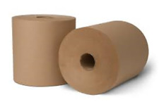 """HuskyPapers Natural Brown Paper Towel 2""""CORE 800 ft Rolls 6/Case"""
