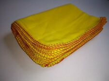 10 x Yellow Dusters  - Cleaning Cloths / Polishing approx 34 x 40 cm