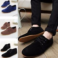 AU Men's Suede Moccasin Loafers Slip On Driving Leather Casual Comfort Shoes New