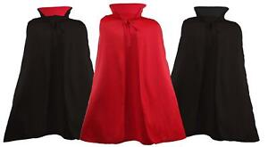 "60"" Length Stand Up Collar Vampire Dracula Vlad Halloween Devil Cape Fancy Dress"
