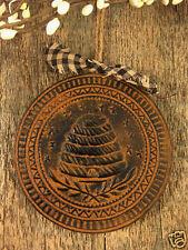 PRiMiTiVE Beehive Beeswax Blackened Cinnamon Scented Folk Art Ornament Ornie