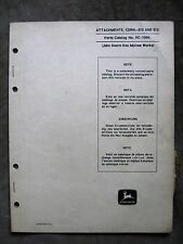John Deere 612 812 Corn head Parts catalog Manual 95 105 Combine ORIGINAL