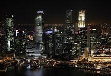 Vinyl Photography 7x5ft Night City Buildings Light Backgrounds Photo Backdrops