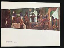 Anton Refregier Lithograph MID CENTURY MODERN Art  8.5x11.5 1961 Mural Sixties