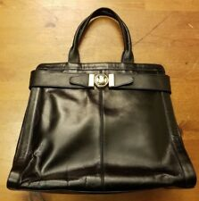 Vintage, Erik for Holiner, Black, Leather, Kelly Design Handbag (1950s)