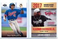 VLADIMIR GUERRERO JR. & VLADIMIR GUERRERO SR. 1995/2017 ROOKIE CARD LOT! HOF!