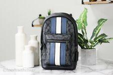 Coach 2999 Men's West Pack Signature Varsity Stripe Leather Backpack Bag Sling