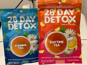 Skinny Boost Day/Evening 28 Day Detox Tea / Free Shipping Order NOW! NEW