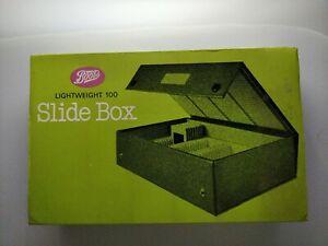 Boots 35mm Lightweight 100 Photographic Slide Storage Box Unused in Dark Blue