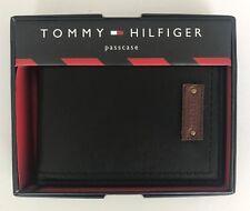 100% AUTHENTIC MENS DESIGNER TOMMY HILFIGER LEATHER WALLET BLACK