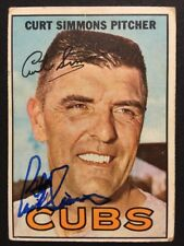 Curt Simmons Cubs Signed 1967 Topps Baseball Card #39 Auto Autograph