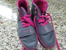 CREATIVE RECREATION ATHLETIC SHOES HI TOP SNEAKERS WOMENS 7 GRAY/PINK  FREE SHIP