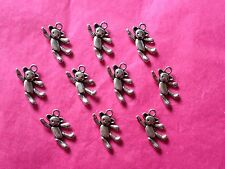 Tibetan Silver Traditional Teddy Bear Charms 10 per pack