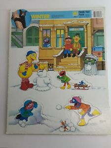 "Vintage 1991 Sesame Street ""Winter"" Frame-tray Puzzle"