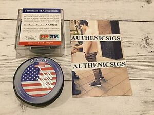 Max Pacioretty Signed Team USA U.S.A Hockey Puck PSA DNA COA Canadiens PROOF a