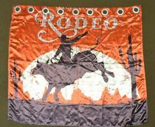 Satin Rodeo Cowboy Desert Catus Horse Orange Brown Window Wall Curtain Treatment