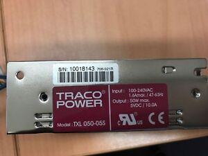TRACO POWER 100-240VAC 106Amax/ 47-63Hz   50W max 5VDC /10.0A Part # TXL 050-05S