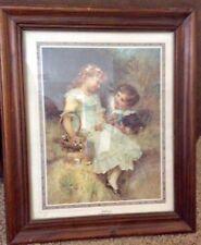 "Sweethearts by Frederick Morgan Rare Framed Art Trademark Pears 24,5x20.5"""