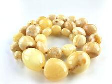 GENUINE NATURAL BALTIC AMBER necklace 35gr. #17B Bernstein ambra 琥珀色 hupo