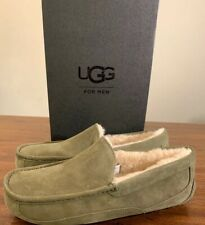 UGG ASCOT 1101110 MEN'S SLIPPERS MOSS GREEN EXCLUSIVE COLOR SIZE 10, AUTHENTIC