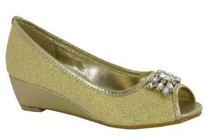 LADIES SLIP ON SANDAL LOW HEEL CASUAL SPARKLE EVENING WOMENS SHOES UK SIZES 3-9