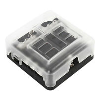 6 Way Blade Fuse Box Holder Block Case RV Van Car Truck Boat Marine 12V/24V Bus