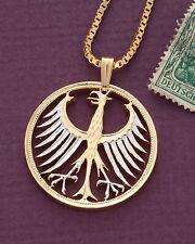 "Germany Phoenix Pendant, German 5 Mark Hand Cut Coin   1-1/8"" diameter ( # 116 )"