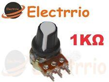EL2522 Potenciómetro 1KΩ con Perilla botón embellecedor potenciometro 1K lineal