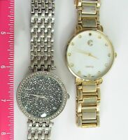 Charming Charlie Silver Druzy Crystal Stainless Steel Watch + BONUS MOP Watch