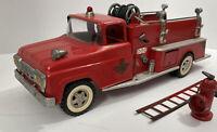 Vintage 1958Tonka Suburban Pumper Fire Truck , Pressed Steel.#46.w/hydrant