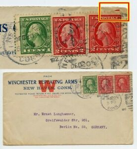 USA 1912 Cover with PERFORATION ERROR Missing Perforation