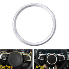 For Jaguar XF XE F-Pace F-Type 2016 2017 Silver Steering Wheel Cover Decor Trim