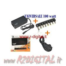 ALIMENTATORE UNIVERSALE 100W NOTEBOOK NETBOOK COMPAQ ACER ASUS DELL TOSHIBA SONY