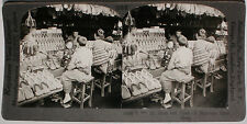 Keystone Stereoview of Clogs at Shoe Shop in JAPAN from the 1920's 400 Card Set