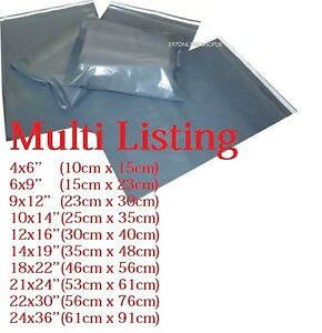 Plastic Polythene Grey Mailing Postal Packaging Bags with Strong Self Seal Strip
