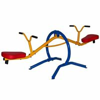 See Saw Spinning Teeter Totter Sturdy Steel Frame Kids Safe Outdoor Toy Play