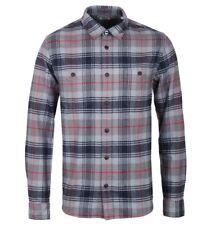 New Mens Edwin Jeans Japan LS Check Labour Shirt Battle Grey Cotton S Flannel