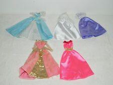 Lot 5 Mattel Barbie Disney Princess Long Dress Gown Lot A8