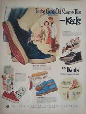 Vintage Keds Shoes Childrens Summer Time Circus Slip Ons Gladiator Original Ad