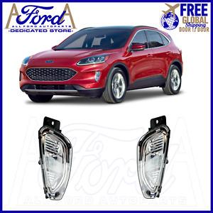FORD KUGA 2020-2021 PAIR CLEAR FRONT BUMPER FOG LIGHT LAMPS+BULBS LJ6B-15A254