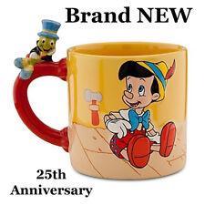 Disney Store 25th Anniversary Pinnochio / Jiminy cricket Coffee Mug 3D Brand NEW