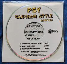 PSY Gangnam Style US CD Promo 3 Remixes Trevor Simpson Kinky Kids 2012