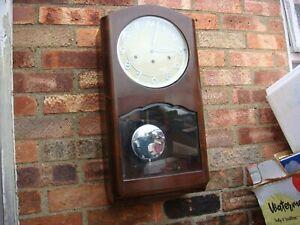 Vintage Old  German  Kienzle  Westminster Chimes Wall  Clock   ( See Video )
