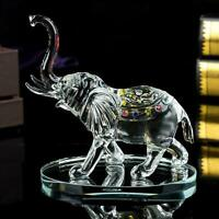 Clear Crystal Elephant Ornament Statue Cut Glass African Swarovski