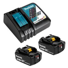 Genuine Makita DC18RC Fast Charger & 2x 18V 5.0Ah Battery batteries Combo Kit