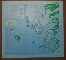 1945 US Army Map City Plan of Omura, Nagasaki Prefecture, Kyushu Japan 1:12,500
