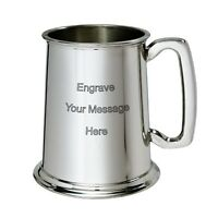 NEW Personalised 1 Pint Polished Pewter Tankard Any Message Engraved