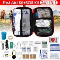 241Pcs/Set SOS Emergency Camping Survival Equipment Outdoor Gear Tactical
