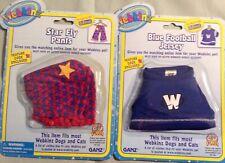 Webkinz Nwt Star Fly Pant & Blue Football Jersey Costume Ganz Nrfp Un Used Code